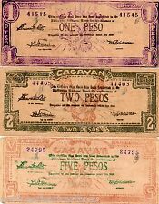 Philippines Cagayan Emergency ND S187 S190 S191a 1P 2P 5P Certificate Issue LOT