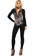 Damen-Overalls mit V-Ausschnitt aus Viskose in Größe 36