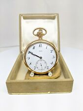 Tiffany & Co. 18k Solid Yellow Gold Open Face Pocket Watch -VINTAGE- WORKING