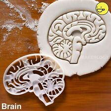 Brain Anatomy cookie cutter | macabre doctor medical neuroscientist halloween