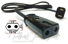 """Royal Rochester Replacement Power Cord for Vintage Waffle Maker Iron 1/2"""" 2-Pins"""