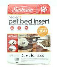 "Sunbeam Heated Pet Bed Insert Warmer for All Dog Cat 10""x14"" SBUW11-002"