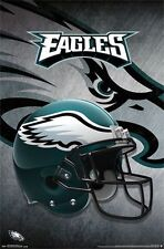 PHILADELPHIA EAGLES - HELMET LOGO POSTER - 22x34 NFL FOOTBALL 13992