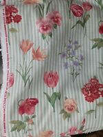"Linen 100 % fabric Floral, 54"" wide Fabric sold by yard"