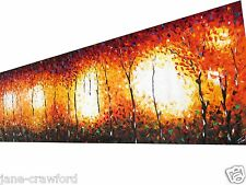 "59"" x24"" aboriginal art painting By Jane Coa Abstract Australia COA"