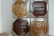 "Wall Plaques Lifetime 5118534 12"" Metal - Set of 4 (Burgundy and Gold) NIB NEW"