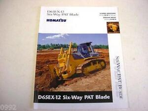Komatsu D65EX-12 ^ Way Blade Crawler Dozer Color Brochure