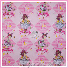 BonEful Fabric Cotton Quilt Flannel Pink FANCY NANCY Ballet Book BTY SALE SCRAP