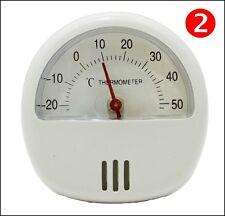 2 x WHITE Fridge Freezer Thermometer Indoor Outdoor Magnetic Kitchen Temperature