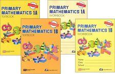 Primary Mathematics 1A and 1B SET Textbooks & Workbooks - U.S. Edition - NEW