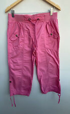 Ladies Cropped Trousers Size 12 Pink George <MM1276