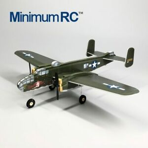 DIY Minimum RC Warbird B25 B-25 Model KIDS plane Toy Parkfly Freeshipping
