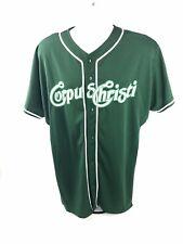 Corpus Christi Hooks Baseball Jersey Green Adult Large Minor League Button Front