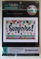 Artiste Mini Counted Cross Stitch Card Kit  Surprise!  Unopened