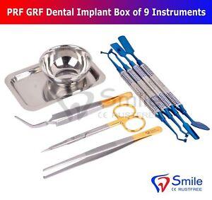 Smile PRF & GRF Dental Implant 9 Instruments Surgical Dental Surgery Tools Kit
