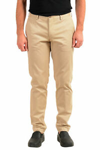 """Hugo Boss Men's """"Broad-W"""" Beige Flat Front Casual Pants US 32R IT 48"""