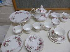 26 pieces Royal Albert Lavender Rose Tea Set trios teapot cake stand sugar milk