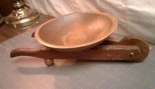 Vintage Wheelbarrow Fruit Bowl Cornwall Wood Products Maple Danish Modern