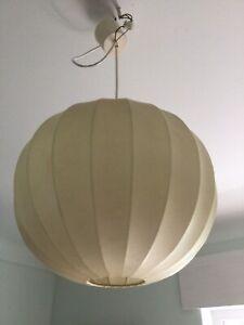 Cocoon Lampe, Hängelampe original 60er Jahre