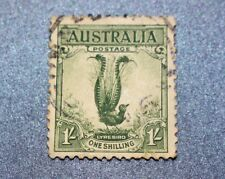 Aust Stamp Pre-Dec Aust Birds Green Lyre Bird 1/- c1932 Used Nice Condition 28