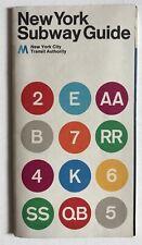 Vintage 1974 New York City Subway Map Guide Massimo Vignelli MoMA