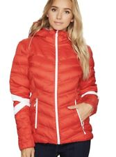 NWT Women SPYDER VINTAGE HOODY SYNTHETIC DOWN Ski JACKET $219 Red Large (14-16)