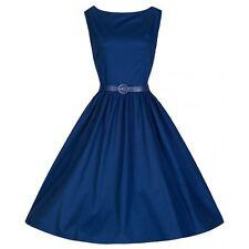 Stunning dark blue  50s Rockabilly/jive dress from Lindy Bop size 10