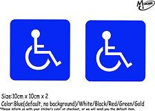 2x Handicap Sign Disability Disabled Wheel Chair Car Bumper Vinyl Sticker Decal