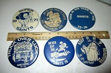 Set Of St Croix Falls WI Pinback Badge Buttons Football Saints High School Wis