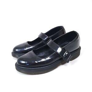 DR Martens Shoes Mariel patent flat black shoes 4UK 37 eur