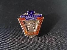 Solid Silver & Enamel Bham 1924 30yrs National Union of Railwaymen Badge Pin