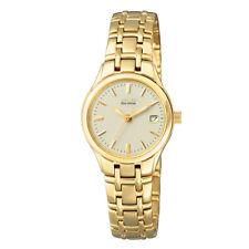 Citizen ECO-Drive Damenuhr Armbanduhr Damen Elegant Goldfarben EW1262-55P