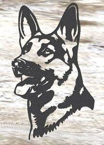 German Shepherd - Steel Metal Garden Wall Art