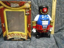 M&M's Nutcracker Toy Soldier Holiday Limited Edition Candy Dispenser Blue box