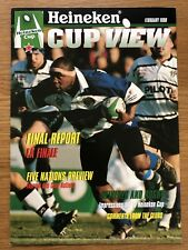 HEINEKEN CUP VIEW MAGAZINE FEB 1998 feat BATH v BRIVE FINAL *RARE*