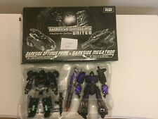 Transformers United EX Darkside Optimus Prime and Megatron Tokyo Toy Show 2011