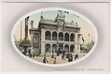 Bruxelles Exhibition 1910 postcard - Pavillon Italien