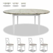 Florence large oval extending table and 4 chairs.Wooden dining table set.QUALITY