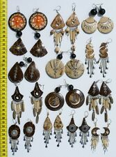 Lot 30 Pairs Natural CocoNut and Seed Beads Earrings Handmade Jewelry Wholesale