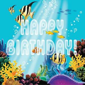 Ocean Party Sea Life Summer Luau Theme Birthday Party Paper Luncheon Napkins