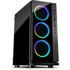 Inter-Tech W-III RGB Midi Tower ATX Gaming Gehäuse Seitenfenster