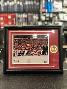 Team Canada, Vancouver 2010 Olympic Champion Print with 24kt Gold Medallion