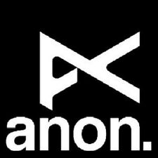 "ANON OPTICS GOGGLES (BURTON SNOWBOARDS) 2 3/8"" X 2.25"" BLACK/WHITE DECAL/STICKER"