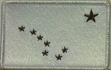 ALASKA STATE Flag Patch  VELCRO® brand fastener BROWN & WHITE WHITE Border #3