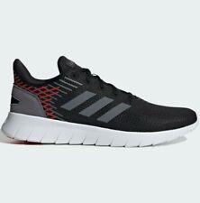 Adidas asweerun Zapatos para hombre-Negro/Rojo-Size UK 9.5 - Nuevo