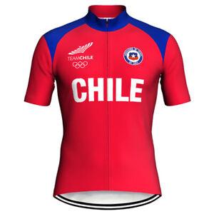 Chile Cycling Jersey Bib Short Set Biking MTB Chileno Red Shirt Maillot Trikot