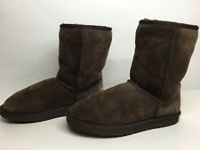*3 WOMENS UGG AUSTRALIA WINTER SUEDE BROWN BOOTS SIZE 7
