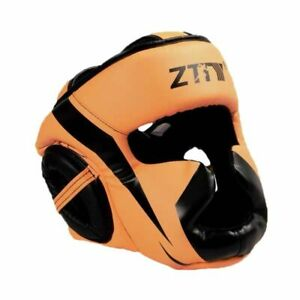 Full Cover Boxing Helmet Faux Leather Training Sparring Protective Gym Headgear