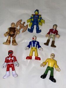 Lot of 6 Figures Imaginext Super Heroes Clown Caveman