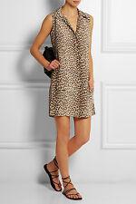 Nwt Equipment Sleeveless Lucida Silk Dress, Leopard Print Size S $268
